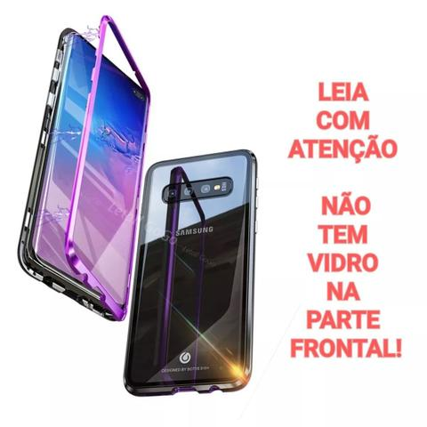 Imagem de Capa Bumper (PRATA) C/ Vidro Traseiro Magnética Imã Samsung Galaxy S9 G960 Tela 5.8