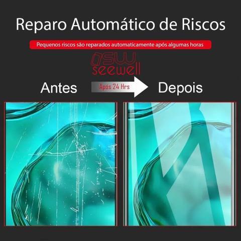 Imagem de Capa Capinha Anti Impacto Iphone 12 + Pelicula Gel Hidrogel Hd SW SeeWell