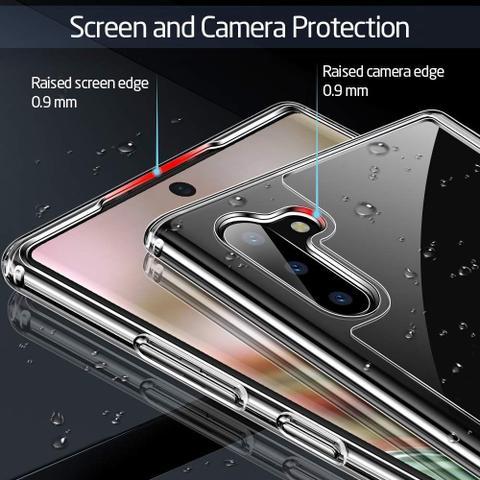 Imagem de Capa Capinha Galaxy Note 10 Plus (6.8) Esr Mimic Vidro Temperado Case Transparente