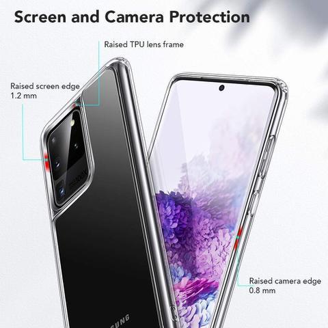 Imagem de Capa Capinha Galaxy S20 Ultra (6.9)  Esr Mimic Vidro Temperado - Transparente