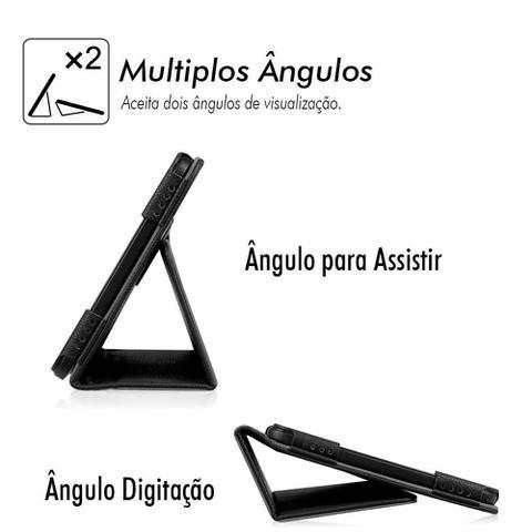 Imagem de Capa Capinha Pasta Tablet Samsung Galaxy TAB A 8.0 T290 T295 Protetora Anti Queda Impacto Em Couro