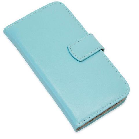 Imagem de Capa carteira couro azul bebe samsung j7 prime g610