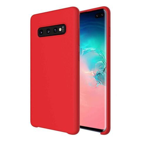 Imagem de Capa Case Capinha Samsung Galaxy S10e Silicone Protective Cover Vermelha