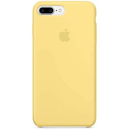 Imagem de Capa Case Capinha Silicone Aveludado Iphone 8 Plus Amarelo