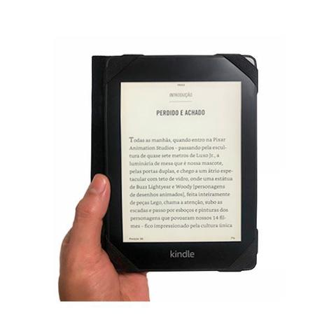 Imagem de Capa Case Novo Kindle Paperwhite 10ª Geração Auto Hibernação - Jornal Marrom