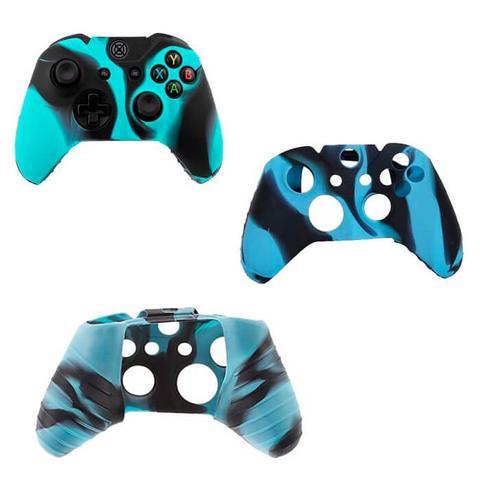Imagem de Capa Case Protetora de Silicone Gel Para Controle Xbox One Camuflada Azul e Preto FEIR FR-314-1M