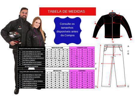 Imagem de Capa Chuva Motoqueiro nylon forrada com capuz embutido