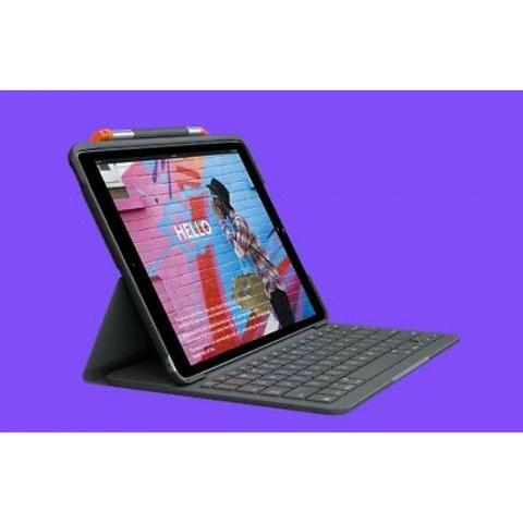 Imagem de Capa com teclado Logitech Slim Folio para iPad 7ª e 8ª geração