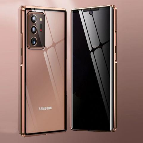 Imagem de Capa Crystal Magnética Anti Curioso Samsung Galaxy Note 20 Ultra  Bronze