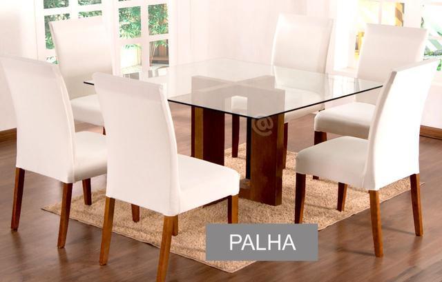 Imagem de Capa de Cadeira Palha Cozinha 4 Lugares Malha Gel Lisa