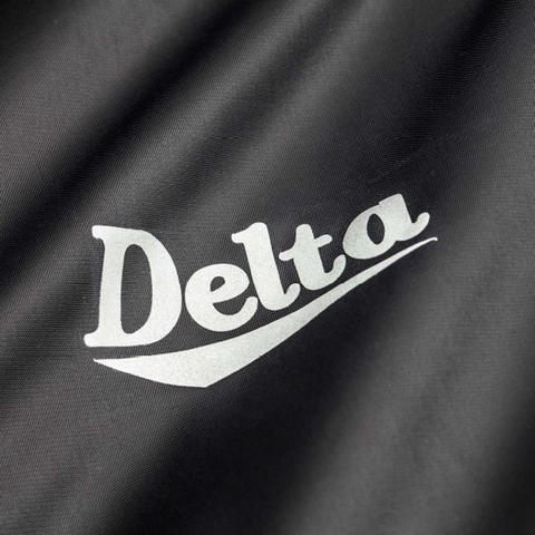 Imagem de Capa de Chuva Delta Nylon Masculina Com Forração Impermeável Preta