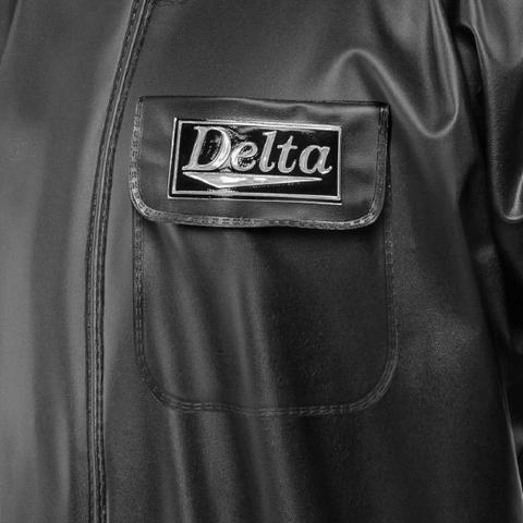Imagem de Capa De Chuva Delta PVC com Bolso Masculina Impermeável Preta