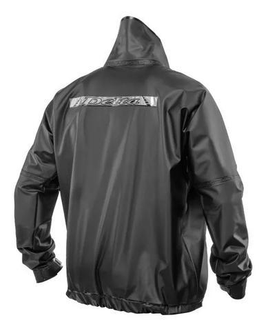 Imagem de Capa de chuva moto motoboy impermeável pvc com gola delta flex