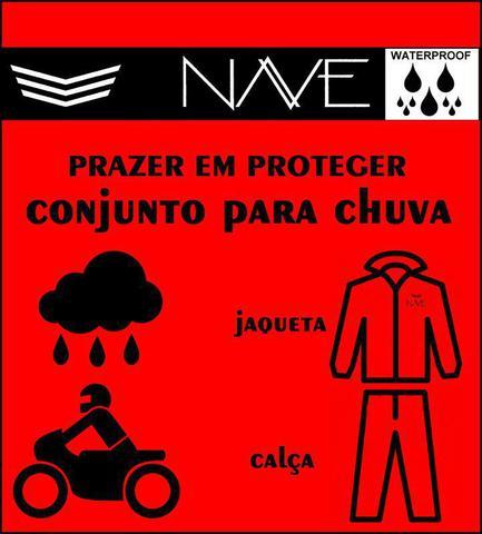 Imagem de Capa de chuva motoqueiro Conjunto Nylon Emborrachado