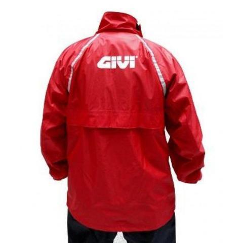 Imagem de Capa de Chuva Nylon Givi Preto e Vermelho Impermeável Tam GG