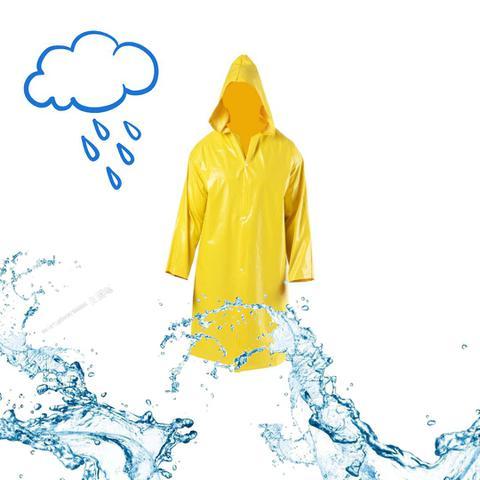 Imagem de Capa de chuva pvc forrada amarela  delta plus - ca:31.413