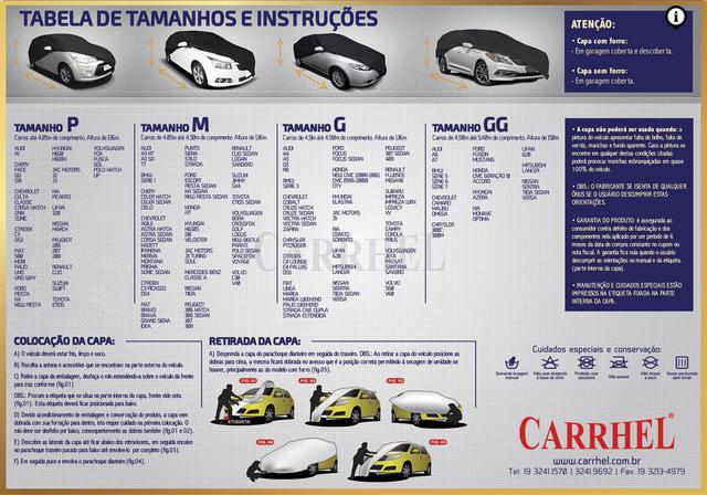 Imagem de Capa de Cobrir Automotiva Premium 100% Impermeável Tamanho G - Carrhel