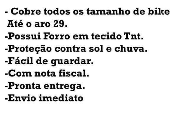Imagem de Capa De Cobrir Bike Bicicleta Forrada Até 29 Impermeável