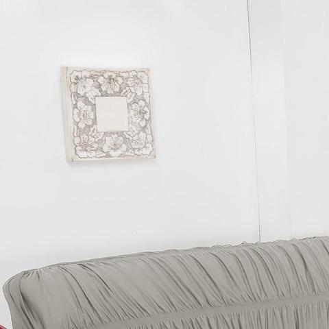 Imagem de Capa de Sofá 3 Lugares Elásticada Cinza