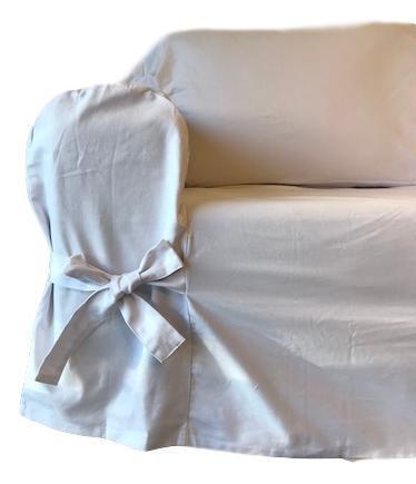 Imagem de Capa de Sofá 4 Lugares Brim 100% Algodão Branco