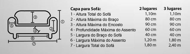 Imagem de Capa de Sofá MARIA AGARRADINHA 2 e 3 lugares em Malha Gel