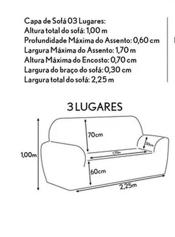Imagem de Capa de Sofá PADRÃO 03 Lugares Pequeno PREMIUM Malha Gel 21 Elástico Manta para Sofá AZUL ROYAL