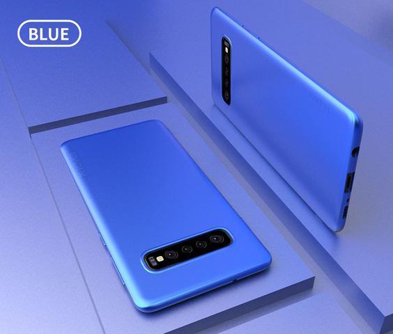 Imagem de Capa Flip Carteira Couro Samsung Galaxy S10 Plus - Azul