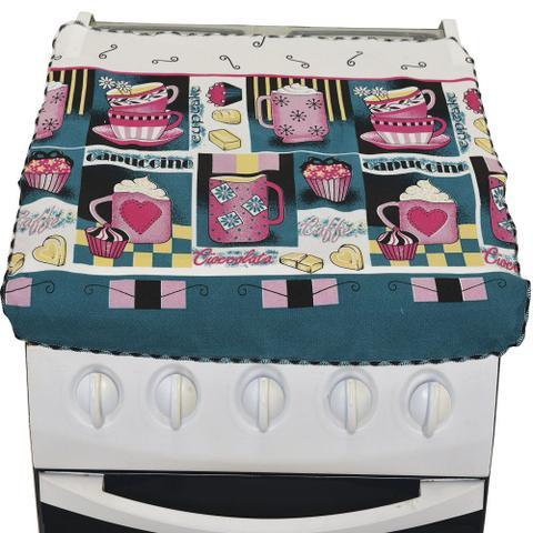 Imagem de Capa Fogão 4 Bocas Estampa Cup Cake 100% Oxford