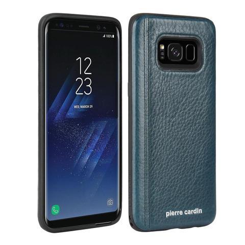 Imagem de Capa Galaxy S8 Plus Pierre Cardin em Couro Genuíno Com Película 3D Tela Inteira Especial Premium