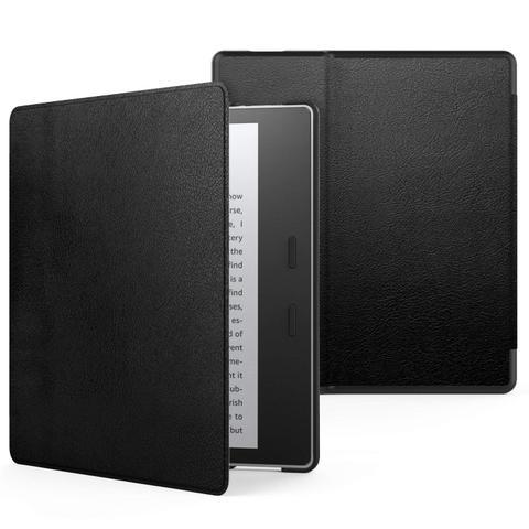 Imagem de Capa Kindle Oasis Wb Auto Liga/Desliga - Couro Premium Preta