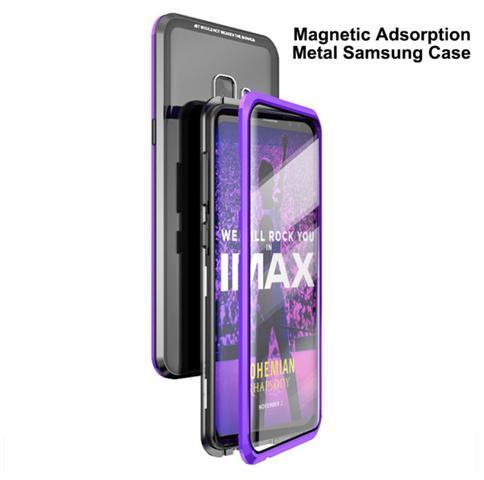 Imagem de Capa Magnética Galaxy S9 Plus em Aluminium Premium com Vidro Temperado Preto