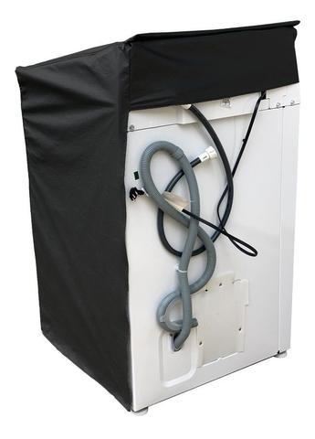 Imagem de Capa Maquina De Lavar Electrolux 13kg Zíper com painel Transparente Preta