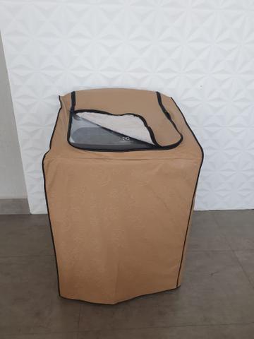 Imagem de Capa Máquina de Lavar Roupas Brastemp, Consul, Eletrolux Impermeável 12kg A 15kg Com ZIPER CARAMELO