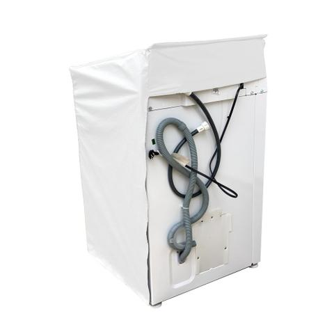 Imagem de Capa Maquina Lavar Consul 13kg 15kg 16kg Ziper Transparente Branca