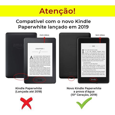Imagem de Capa Novo Kindle Paperwhite a prova Dágua WB Premium Vertical Auto Hibernação - Flores