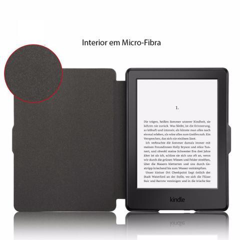 Imagem de Capa Novo Kindle Paperwhite Wb - Ultra Leve Auto Hibernação Fecho Magnético Preta
