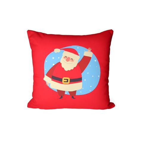 Imagem de Capa Para Almofada Decorativa Vermelha Papai Noel