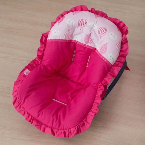 Imagem de Capa para Bebê Conforto Balões Rosa e PInk