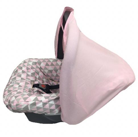 Imagem de Capa para Bebê conforto com Capota Universal Rosa
