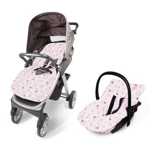 Imagem de Capa para bebê conforto e carrinho papi estampado 90cm x 55cm 01 un