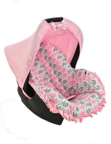Imagem de Capa para bebe conforto - passinho do elefantinho rosa