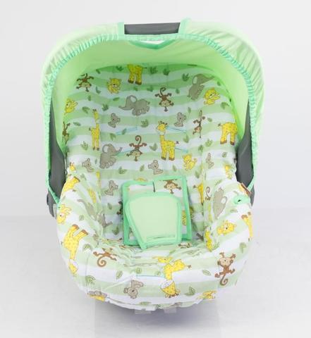Imagem de Capa para bebe conforto - safari listrado verde