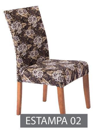 Imagem de Capa para cadeira com estofado Kit com 04 Unidades - Estampado 02