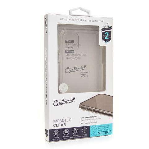 Imagem de Capa Para Celular Customic Samsung Galaxy S10E Impactor Clear Transparente Proteção Anti Impacto