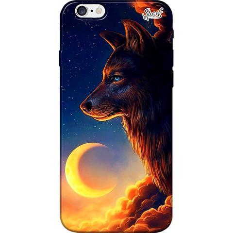 Imagem de Capa para Celular Motorola Moto G5 - Spark Cases - O Lobo e a Lua