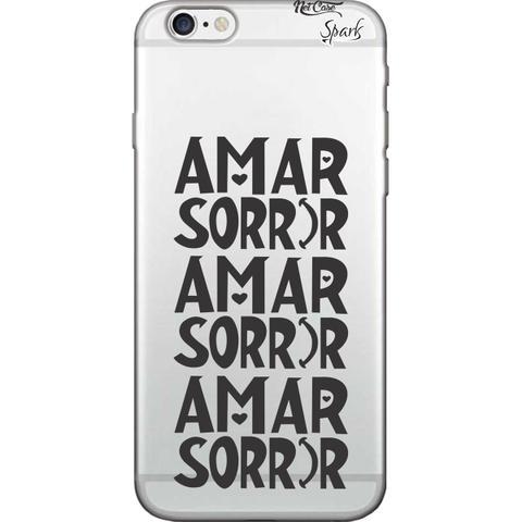 Imagem de Capa para Celular Motorola Moto G6 Plus - Spark Cases - Amar Sorrir