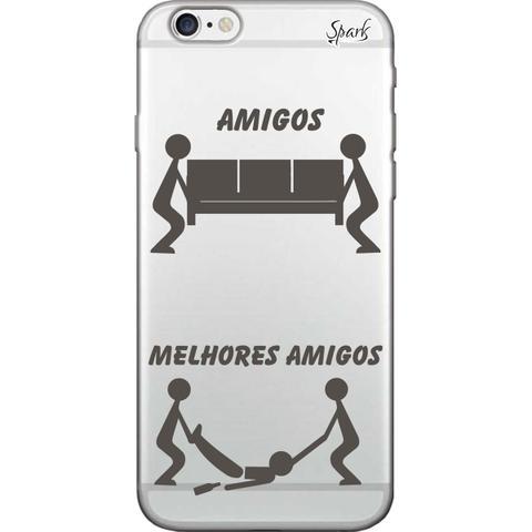 Imagem de Capa para Celular Motorola Moto G6 Plus - Spark Cases - Amigos e Melhores Amigos