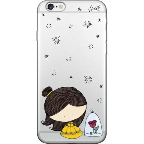 Imagem de Capa para Celular Samsung J7 Prime - Spark Cases - A Bela e a Rosa