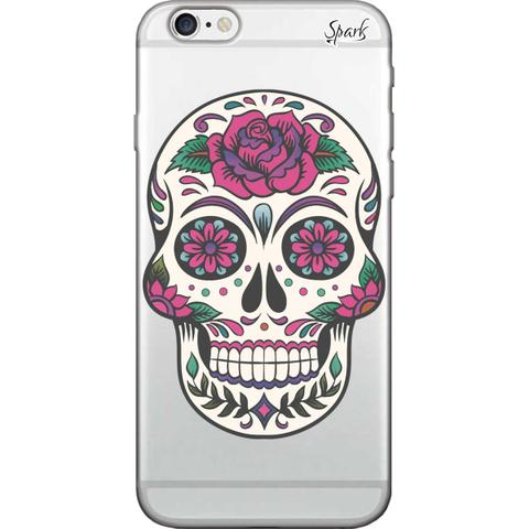 Imagem de Capa para Celular Samsung J7 Prime - Spark Cases - Caveira Florida Rosa