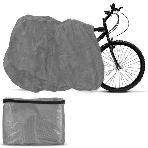 Imagem de Capa Para Cobrir Bicicleta Cinza Sem Forro Tamanho Universal